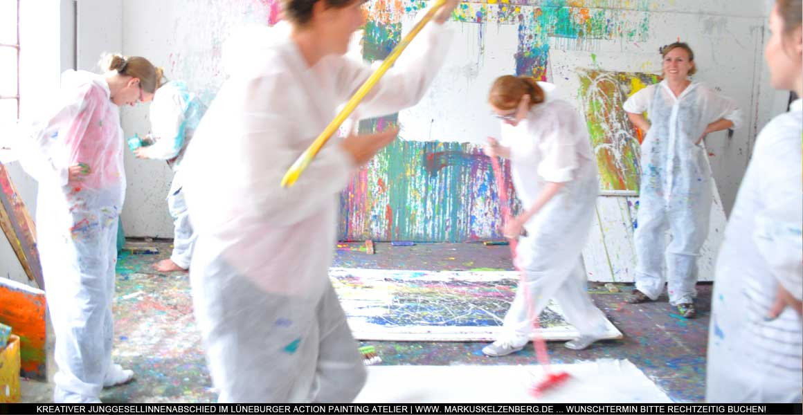 Junggesellinnenabschied Action Painting-4