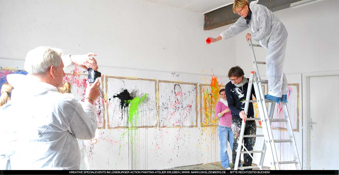 Specialevent Action Painting zu Ostern