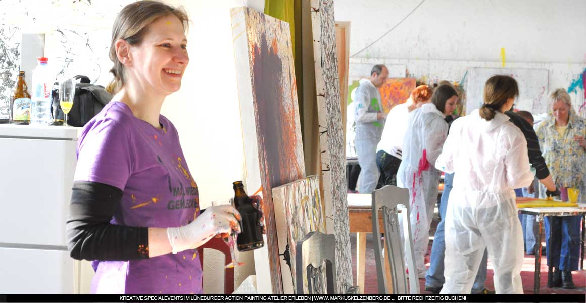 Action Painting Impressionen Event