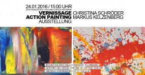 Vernissage Action Painting Ausstellung